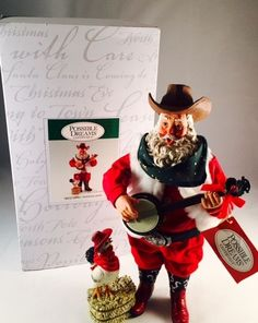 Clothtique Possible Dreams Doodle-Doo Cowboy Santa Banjo by Department 56  #PossibleDreams