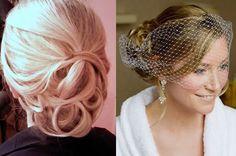 vintage bridal hairstyle. Very pretty.