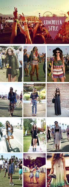 Ya ha pasado Coachella, así que hemos cogido todos sus looks para conseguir alguna inspiración porque este verano... ¡nos vamos de Festival!
