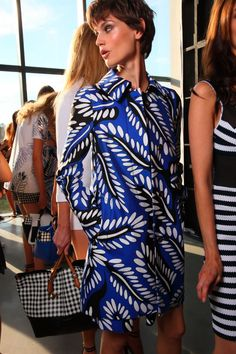 A theatre of print backstage at DVF's #SS15 #NYFW show
