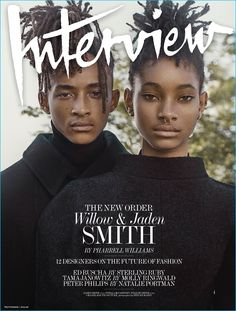 Willow and Jaden Smith cover the September 2016 issue of Interview magazine.