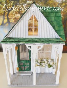 Shabby Chic Streamside Studio Dollhouse 1 by cinderellamoments, $599.00 SOLD