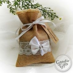 50 Rustic Burlap Wedding Favor Bag 5 x 7 Drawstring Pouch Candy Gift Bag