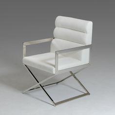 Modrest Capra Modern White Leatherette Dining Chair