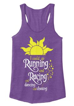 I Could Go Running And Racing And Dancing And Chasing Eco True Purple  T-Shirt Front PINK FLOYD TANK