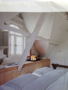 Houten vensterbank / kastjes onder raam