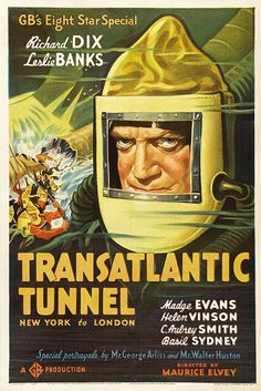 US one-sheet for THE TUNNEL (Maurice Elvey, UK, 1935)  Artist: uncredited  Poster source: MoviePosterDB