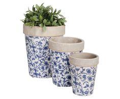 3 Pots de fleurs ronds, céramique | Westwing Home & Living
