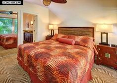 Aina Nalu Resort #B181204 West Maui Condo for Rent | Maui Hawaii Vacations Master Bedroom with King Bed and A/C