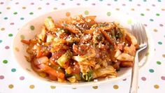 Create Eat Happy :): Stir-Fried Cabbage Neapolitan (Napolitan) - Video Recipe