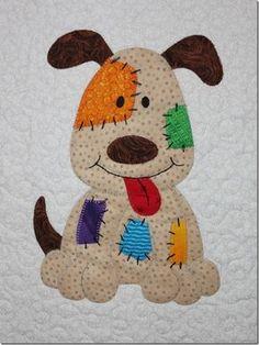 New Patchwork Quilt Children Appliques 55 Ideas Farm Quilt, Dog Quilts, Animal Quilts, Baby Quilts, Applique Quilt Patterns, Applique Templates, Owl Templates, Felt Patterns, Baby Applique