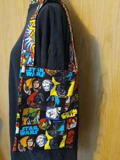 Star Wars library bag, children's library bag, library bag, book tote, book bag, Star Wars book bag, Star Wars trick or treat bag by RoseCityCrafter on Etsy