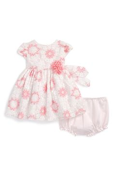 Pippa+&+Julie+Floral+Embroidered+Overlay+Dress+(Baby+Girls)+available+at+#Nordstrom
