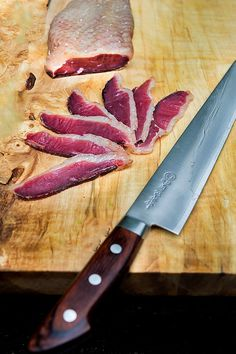 Wild Greens and Sardines : Duck Prosciutto with Fig Onion Jam