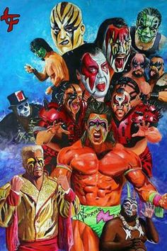 Wrestling~ Painted Faces