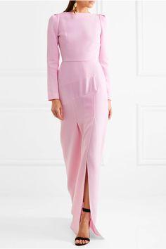 Roland Mouret - Ella Wool-crepe Gown - Pink - UK