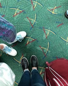 Obligatory PDX carpet pic #girlstrip #meandchou #pdxcarpet #familybound