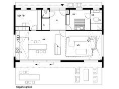 Afbeeldingsresultaat voor plattegrond schuurwoning Architecture Design, Floor Plans, Diagram, How To Plan, House, Interior, Google, Houses, Architecture Layout