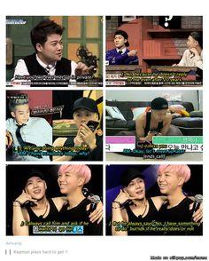 Jackson Rap Monster (BTS) rapmon playing hard to get😂 Bts E Got7, Got7 Meme, Got7 Funny, Funny Kpop Memes, Bts Memes, Rapmon, Bts Bangtan Boy, Namjoon, Got7 Jackson