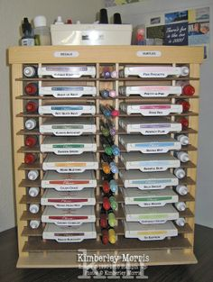 Great storage for ink as well as labeling on ink pads