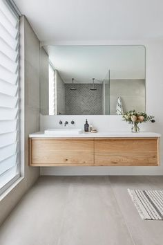 Mid Century Modern Bathroom, Modern Bathroom Design, Bathroom Interior Design, Modern Master Bathroom, Bathroom Designs, Bathroom Trends, Bathroom Renovations, Bathroom Ideas, Bathroom Colors