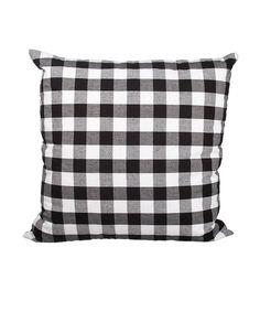 Delano Decor Black Buffalo Check Square Throw Pillow