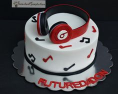 Beats Cake - cake by The Sweetest Temptation - CakesDecor Music Birthday Cakes, Music Themed Cakes, 14th Birthday Cakes, Pretty Birthday Cakes, Birthday Cakes For Teens, Happy Birthday, Teen Boy Cakes, Cakes For Boys, Music Note Cake
