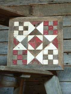 barn quilt block salvaged wood barn quilt by IlluminativeHarvest, $75.00