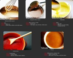 1000 images about mother sauces on pinterest espagnole for 5 mother sauces of french cuisine