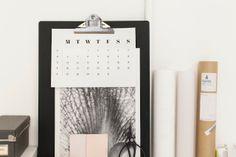 Free printable calendar 1/12 via Pappery