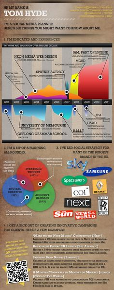 10 inspiring infographic resume examples- from simple to complex!