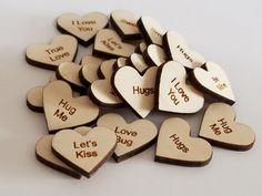 Set of 24 Wooden Laser Engraved Valentine by NightOwlEngravingLLC