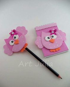 Kids Crafts, Foam Crafts, Diy And Crafts, Arts And Crafts, Paper Crafts, Pencil Toppers, Ideas Para Fiestas, Teacher Gifts, Origami