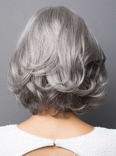 Wigs For White Women Best Hair Dye To Cover GrayAshy Gray Hair – wigbaba Synthetic Lace Front Wigs, Synthetic Wigs, Short Bob Hairstyles, Cool Hairstyles, Pelo Color Plata, Rene Of Paris Wigs, Best Hair Dye, Grey Wig, Gray Hair