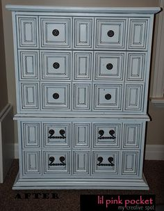 awesome makeover... will be hitting craigs list often! just needs anthropologie style knobs and handles to be perfect!