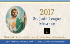 Rediscover the many benefits of our ministry of hope by sending a petition to the National Shrine and receive your 2017 St. Jude League digital membership card, reaffirming your membership for the year.