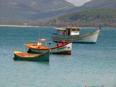 A paisagem delicada e relaxante dos barcos são uma prévia da beleza da Ilha do Campeche. Mais uma pérola da nossa linda Floripa. Foto de Rodrigo Soldon / Creative Commons