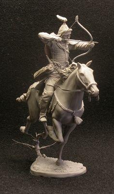 Mongolian horse archer, 13-14 century. 54mm