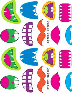 Sodahead printable face parts. I stuck the monster mouths on the chupa chup sticks for J's classprintable face parts. I stuck the monster mouths on the chupa chup sticks for J's class Monster Party, Monster Birthday Parties, Casa Halloween, Halloween Crafts, Halloween Printable, Halloween Stuff, Halloween Halloween, Halloween Makeup, Halloween Decorations