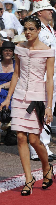 Charlotte Casiraghi Monte Carlo Rose Ball in Chanel