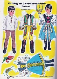 More Golden Magazine Paper Dolls - Holiday in Czechoslovakia