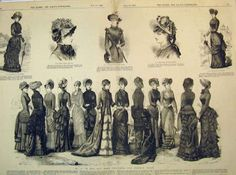 Fashion for woman, 1882