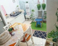 Trendy home decored ideas small spaces patio ideas Small Patio Furniture, Home Furniture, Outdoor Furniture Sets, Outdoor Kitchen Design, Patio Design, House Design, Outdoor Kitchens, Diy Patio, Patio Ideas