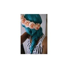 Hair MakeUp ❤ liked on Polyvore featuring beauty products, haircare, hair, beauty, blue hair, makeup and curly hair care