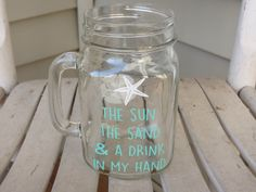 A personal favorite from my Etsy shop https://www.etsy.com/listing/237403442/mason-jar-with-mint-the-sun-the-sand-and