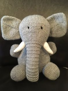 Elephant Toy knitting project by Lorna P