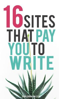 16 Sites That Pay You To Write Articles Online: Beginner Guide To Start Make money writing – 16 Online Writing Sites That Pay: Guide To Start A Freelance Writing Business Work From Home Jobs, Make Money From Home, Way To Make Money, Writing Sites, Article Writing, Make Money Writing, Make Money Blogging, Start Writing, Writing Help