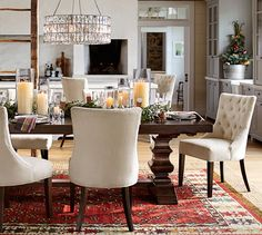 Pottery Barn's expertly crafted collections offer a widerange of stylish indoor and outdoor furniture, accessories, decor and more, for every room in your home. Dining Room Furniture, Dining Room Table, Dining Area, Home Furniture, Dining Rooms, Pottery Barn Bedrooms, Formal Dining Tables, Extendable Dining Table, Interior Design