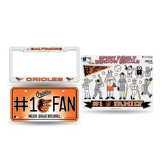 Baltimore Orioles MLB 3 Piece Auto Family Pack