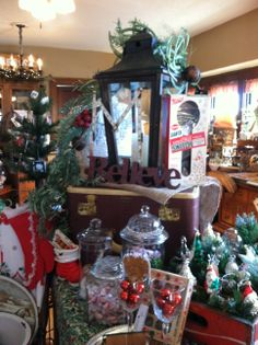 We have many Vintage Christmas items to choose from at DeeDee's.